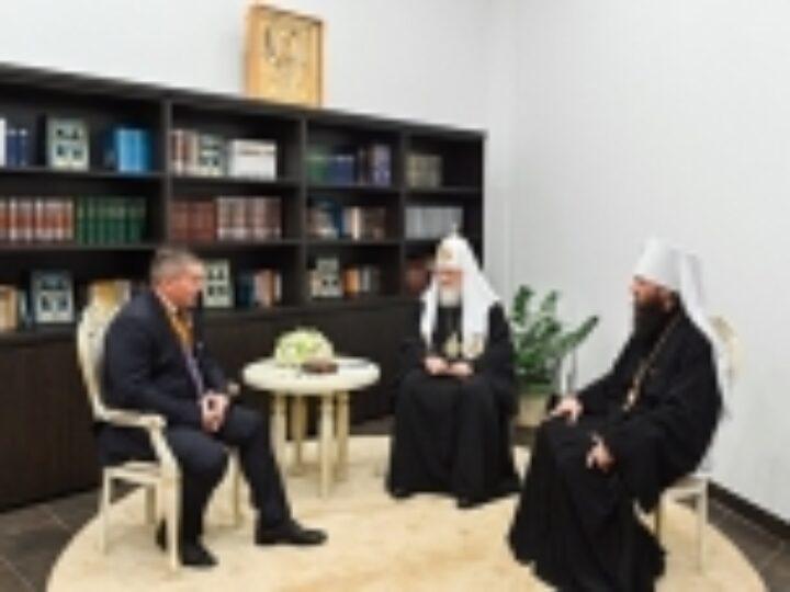 Состоялась встреча Святейшего Патриарха Кирилла с губернатором Волгоградской области и главой Волгоградской митрополии