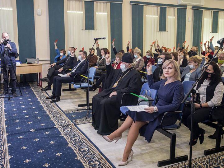 14 октября 2021 г. Участие митрополита Аристарха в выборах ректора КемГИК